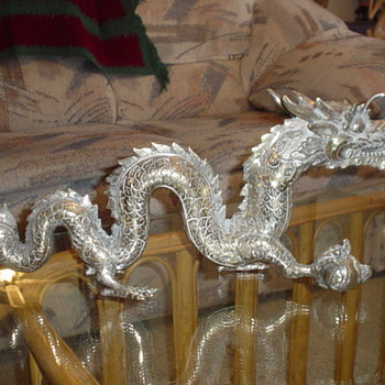 Silver plated Chinese Dragon - Asian