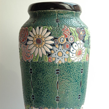 large art deco pottery vase by AMPHORA