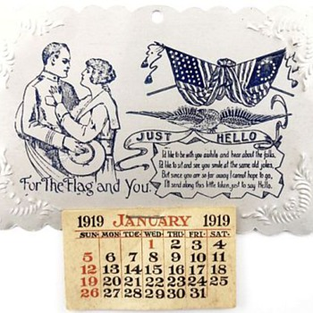 Designed Tin Calendar From 1919