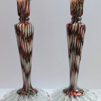 Matching Welz Candlesticks - Rainbow Honeycomb Décor