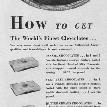 1950 Gilbert Chocolates Advertisement - Advertising