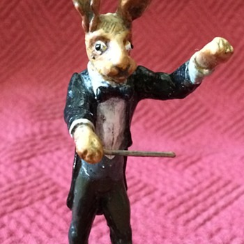 Austrian Cold Painted Bronze Conductor Hare - Animals