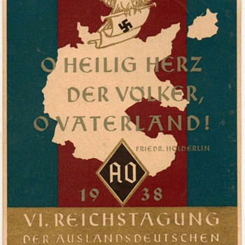 "1938 - ""VI. Nazi Congress Foreign Organization"" - Postcard"