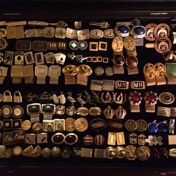 Most of my Cufflink & Tie bar Collection - Accessories