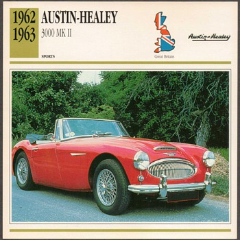 Vintage Car Card - Austin Healey 3000 MK II - Cards