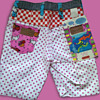 #18 ~ 1960's Deadstock Peter Max Psychedelic Pink Polka Dot Hot Pants