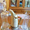 Horn claw pitcher? wine glass with &quot;ice pick&quot; hallmark &amp; decanters?