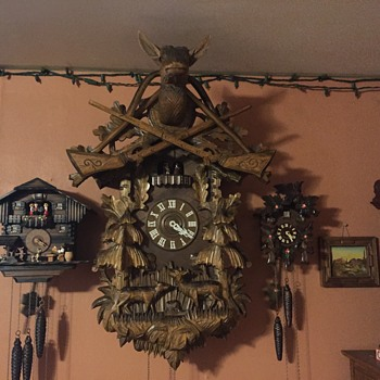 "Cuckoo Clock very large (36"") - Clocks"