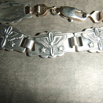 WW2 Sweetheart Army Air Corps bracelet - Costume Jewelry