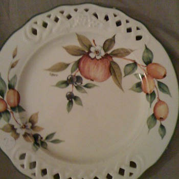 tiffany plate/and bavaria plate