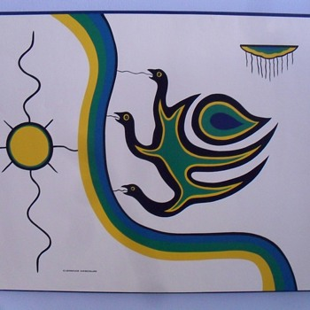 Clemence Wescoup silk screen print. - Native American