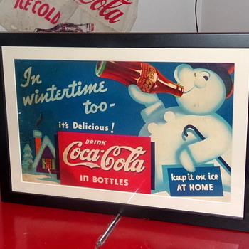 1935 Coca-Cola Cardboard Hanger Sign