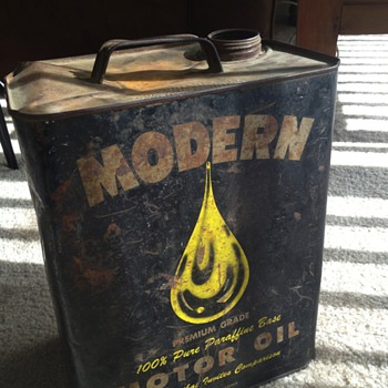 Modern Oil 2 Gallon Can - Petroliana