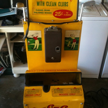 Vintage golf club cleaning machine. - Outdoor Sports