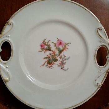 """Haviland Co. H&C Limoges 10"""" Pierced Handle Plate c1876"""