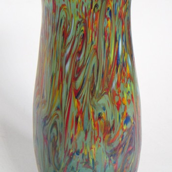 "Czech Vase~Beautiful Color and Iridescence~7"" High~Loetz?"