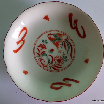 Chinese / Japanese porcelain with Phoenix Bird image