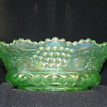 Extremely Rare IG Grape & Cable Bowl - Glassware