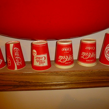 Collection of vintage paper cups.
