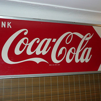 Coca Cola Horizontal Sign 1950's