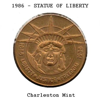 Statue of Liberty Commemorative Medal - Charleston Mint - US Coins