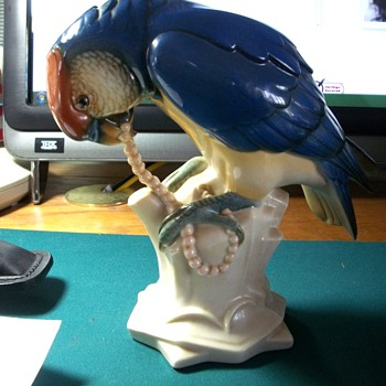 Beautiful Parrot - Art Pottery