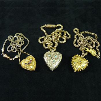 Three Late Georgian (Regency Era) Love Token Lockets - Fine Jewelry