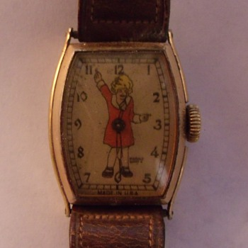 1934 New Haven Orphan Annie Wrist Watch - Wristwatches