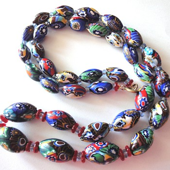 Vintage Millefiori bead necklace - Fine Jewelry