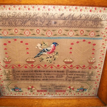 Victorain Sampler 1856 - Sewing
