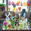 CZECH GLASS VASES AND FLOWERS
