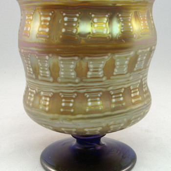Otto Prutscher designed Loetz footed vase from 1929