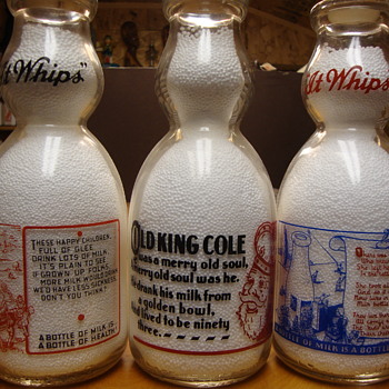 Milk Bottles With Nursery Rhymes.......