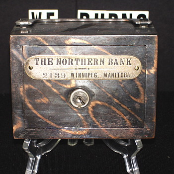 "Promotional Advertising Steel Bank""The Northern Bank,Winnipeg,Manitoba. - Coin Operated"