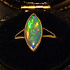 Very Bright Crystal Opal in a 15ct Gold Ring, circa 1930