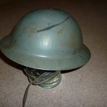 British WW11 Civil Defence steel helmet. - Military and Wartime