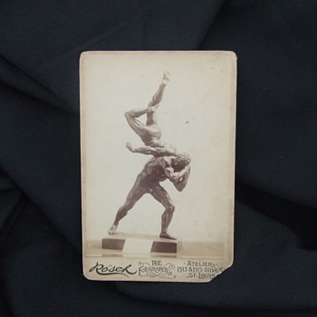 Artist Identification on Wrestlers Bronze - Photographs