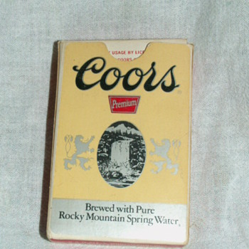Vintage Coor's Playing Cards - Breweriana