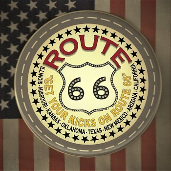 Route 66 Pinback Button