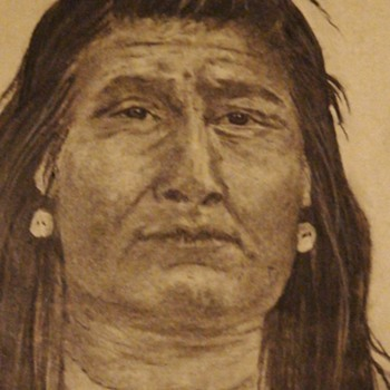 Indian Drawing By Ellie Swanson 1978 - Visual Art