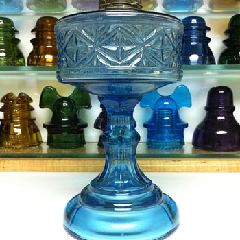 Looking for info on this Blue oil lamp