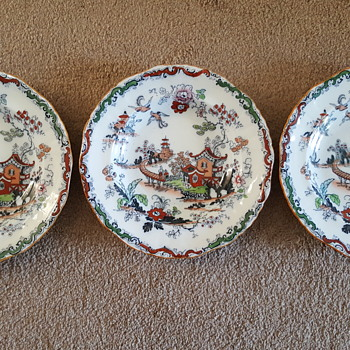 A set of Ashworth Bros Hanley plates