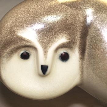 """Arabia Finland, Owl figurine""""Lillemor Mannerheim""""Vintage 1980's"""