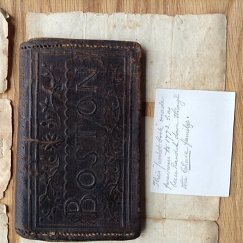 1773 leather wallet made in Boston containing letter written in 1812!  - Accessories