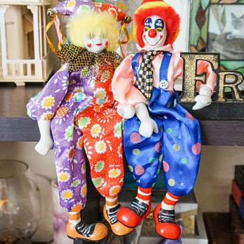 Ganz Posable Porcelain Clowns