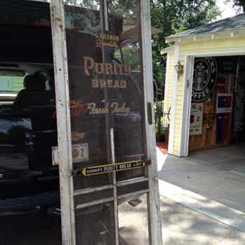 Gardner Quality Purity Bread Screen Door With Original Lettering And Door Push - Advertising