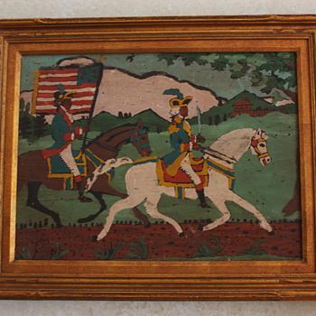 Folk Art Depicting Early American Scene