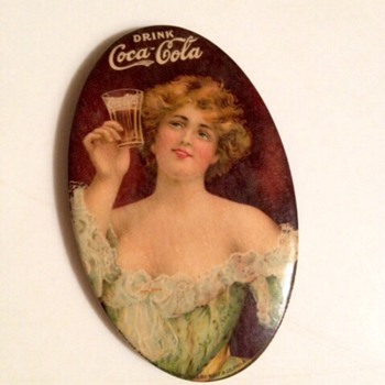 1907 Coca Cola Pocket Mirror - Coca-Cola