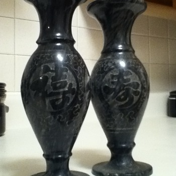 Asian Vases (Marble)  - Art Pottery