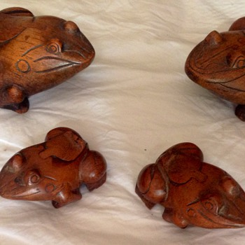 Hand made Wooden frogs from Thailand